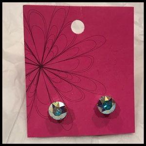 NWOT Sparkling 10 mm Cubic Zirconium Stud Earrings